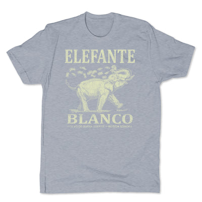 Botica-Sonora-Elefante-Blanco-Good-Luck-Mens-T-Shirt-Grey