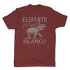Botica-Sonora-Elefante-Blanco-Good-Luck-Mens-T-Shirt-Red