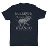 Botica-Sonora-Elefante-Blanco-Good-Luck-Mens-T-Shirt-Blue
