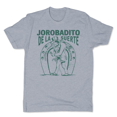 Botica-Sonora-Jorobadito-Good-Luck-Mens-T-Shirt-Grey