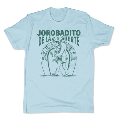 Botica-Sonora-Jorobadito-Good-Luck-Mens-T-Shirt-Blue