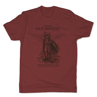 Botica-Sonora-San-Miguel-Protection-Mens-T-Shirt-Red