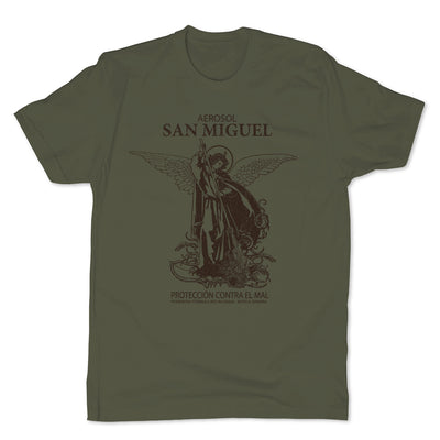 Botica-Sonora-San-Miguel-Protection-Mens-T-Shirt-Green