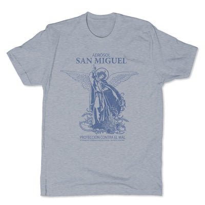 Botica-Sonora-San-Miguel-Protection-Mens-T-Shirt-Grey
