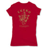 Botica-Sonora-Ekeko-Good-Luck-Womens-T-Shirt-Red