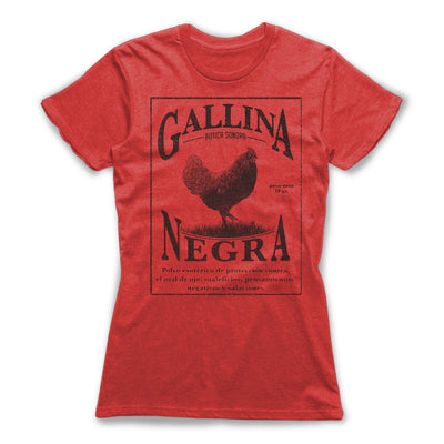 Gallina-Negra-Protection-Spells-Women-T-Shirt-Red