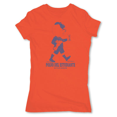 Botica-Sonora-Polvo-Del-Estudiante-White-Magic-Womens-T-Shirt-Orange