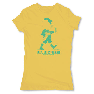 Botica-Sonora-Polvo-Del-Estudiante-White-Magic-Womens-T-Shirt-Yellow
