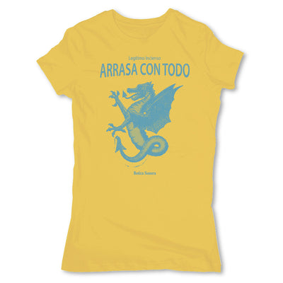 Botica-Sonora-Arrasa-Con-Todo-Conjuros-White-Magic-Womens-T-Shirt-Yellow