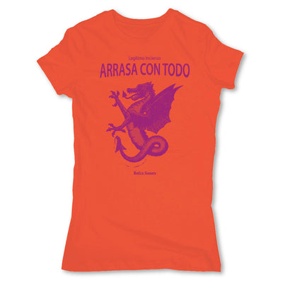Botica-Sonora-Arrasa-Con-Todo-White-Magic-Womens-T-Shirt-Orange