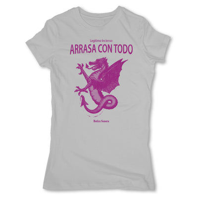 Botica-Sonora-Arrasa-Con-Todo-Conjuros-White-Magic-Womens-T-Shirt-Grey