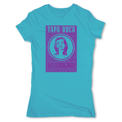 Botica-Sonora-Tapa-Boca-White-Magic-Womens-T-Shirt-Blue
