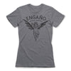 Engano-Black-Magic-Women-T-Shirt-Grey