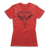 Engano-Black-Magic-Women-T-Shirt-Red