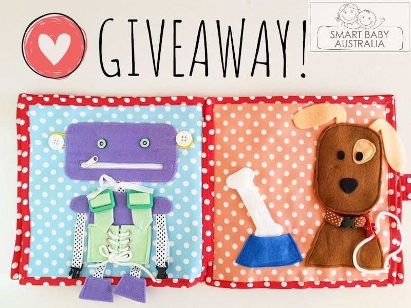 **Giveaway handmade quiet book**