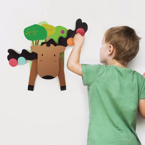 Wall Toy - Montessori- GOOFY MOOSE - A GAME OF BALANCE
