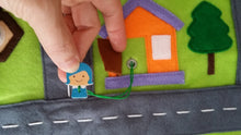 Load image into Gallery viewer, Handmade car play mat/ travel/ activity mat