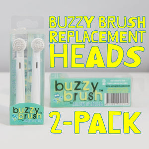 Jack N' Jill Buzzy Brush - 2 Replacement Heads for Electric Toothbrush