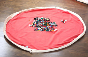 2 in 1 playmat and toy storage bag