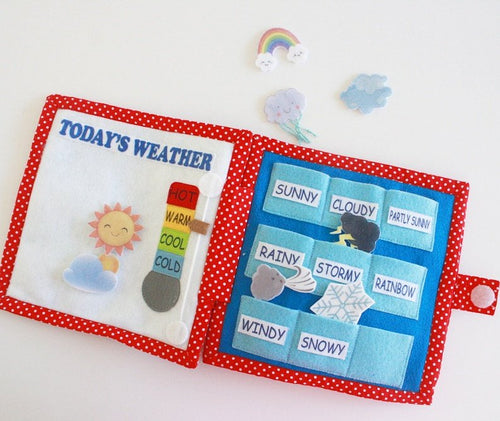 Handmade Quiet Book/ Busy Book (5 pages) - Weather