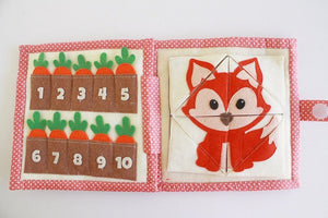Handmade Quiet Book/ Busy Book (5 pages) - Owl Gate