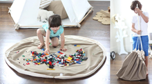 Load image into Gallery viewer, 2 in 1 playmat and toy storage bag