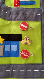 Handmade car play mat/ travel/ activity mat