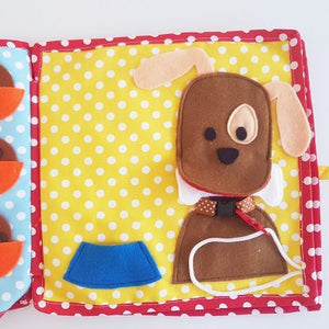 Handmade Quiet Book L Size (5 pages)