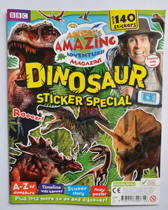 Andy's Dinosaurs Amazing Adventures 140 stickers Learning Activities