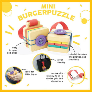 Travel Toy Burger Puzzle Cube