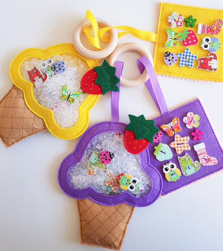 I Spy Bag Travel Game Busy Sensory Toy Cupcake
