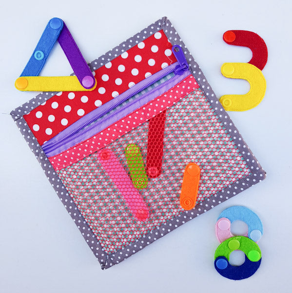 Handmade Quiet Book/ Busy Book - Number/ Shape Construction
