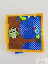 Load image into Gallery viewer, Handmade Quiet Book/ Activity Busy Book (owl)