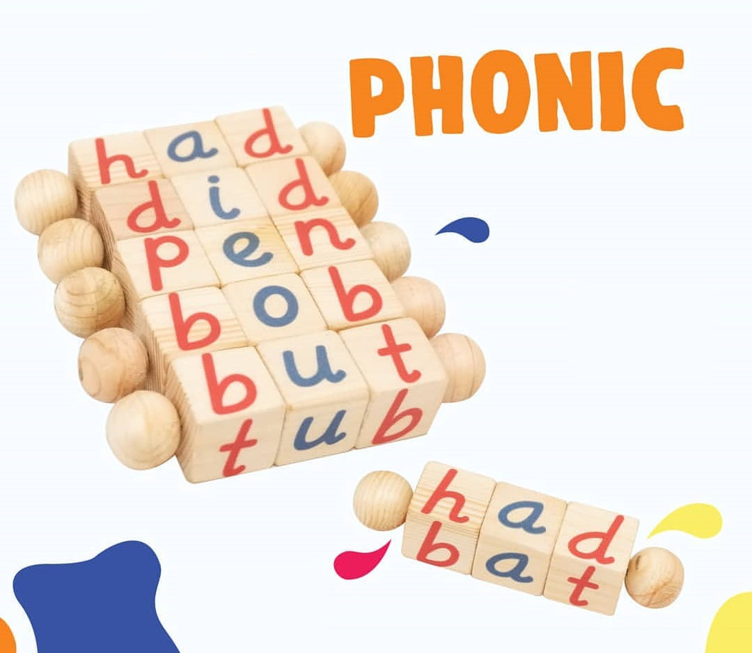 Phonics wooden toy blocks