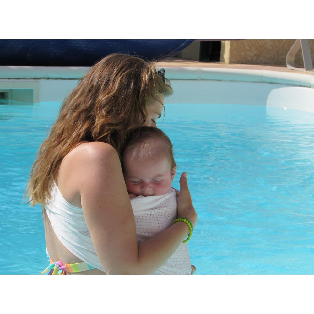 Safety tested and ASTM approved Sukkiri Baby Sling// Mesh Water Baby Sling