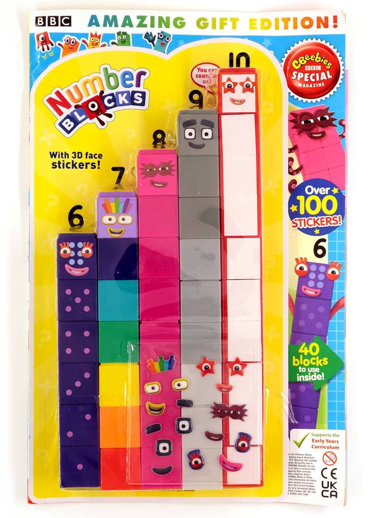 Numberblocks Magazine and Toy set (6-10)