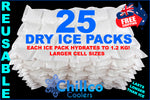 25 X CHILLCO DRY GEL ICE PACKS