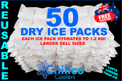 50 X CHILLCO DRY GEL ICE PACKS