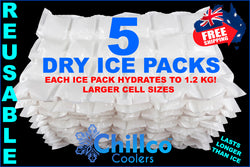 5 X CHILLCO DRY GEL ICE PACKS