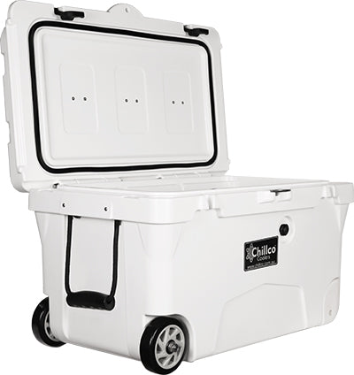 70 Litre with Wheels Arctic White Esky Cooler