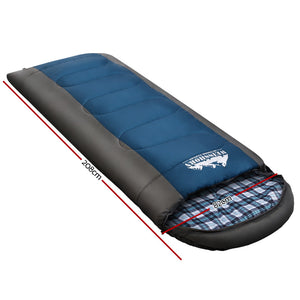 Weisshorn Sleeping Bag Single Camping Hiking -20°C to 10°C Winter Thermal Navy
