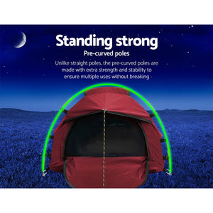Weisshorn Biker Swag Camping Tent Single Canvas Swags Biking Hiking Beach