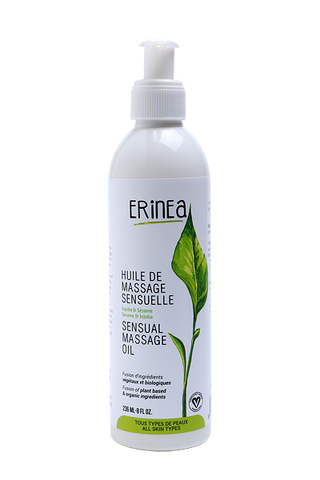 Erinea, massage oil, vegan supplies, Vegan cosmetic