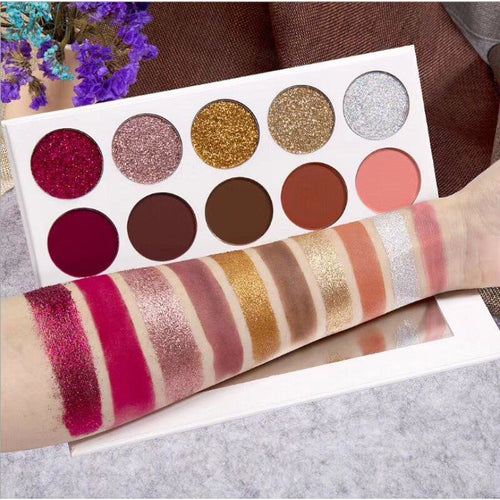 10 COLOR MATTE AND GLITTER PALETTE