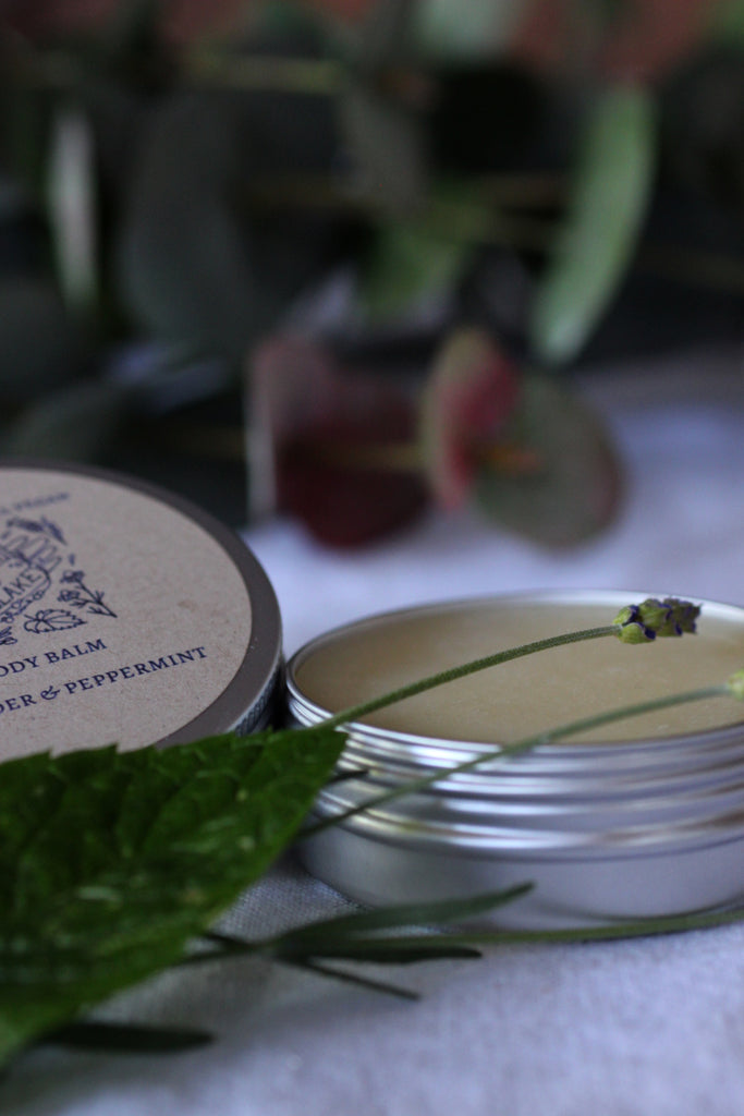 Baburu Lavender and Peppermint body balm; vegan, handmade, natural, certified, beauty product, hand moisturiser, facial care