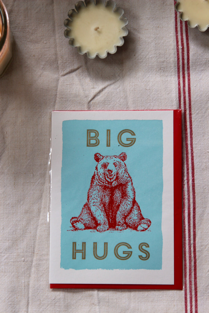 Letterpress Big Bear Hug Card