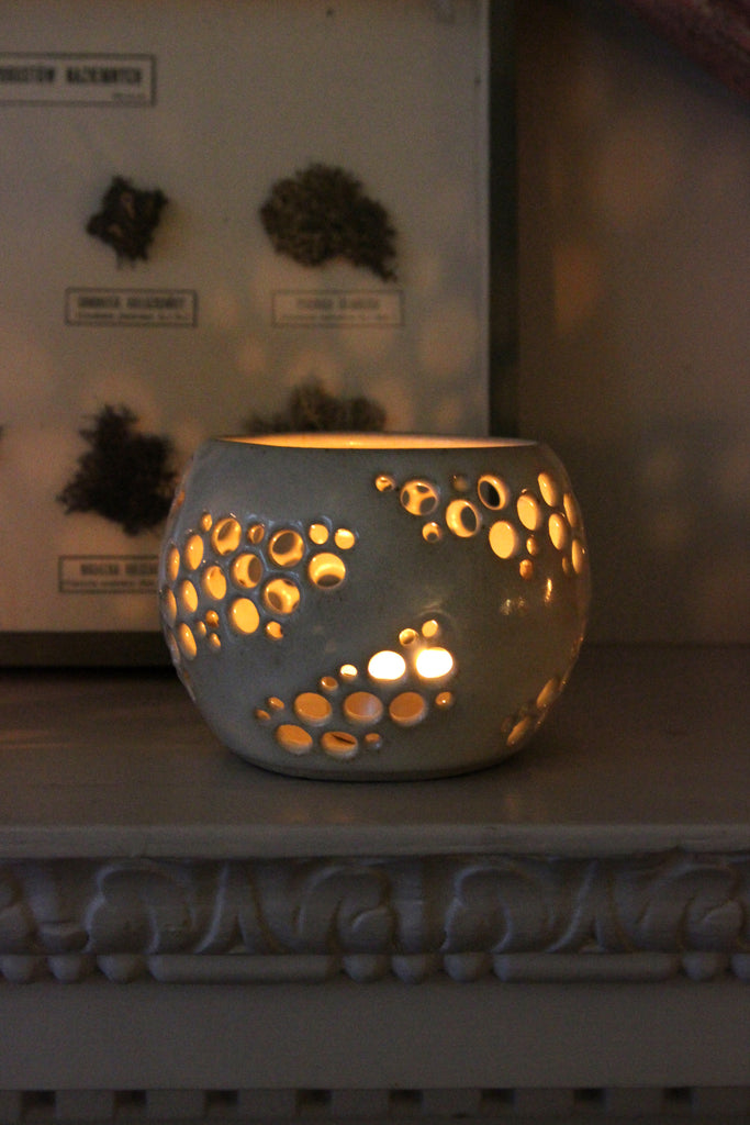 Handmade Tealight Votive Intricate Globe