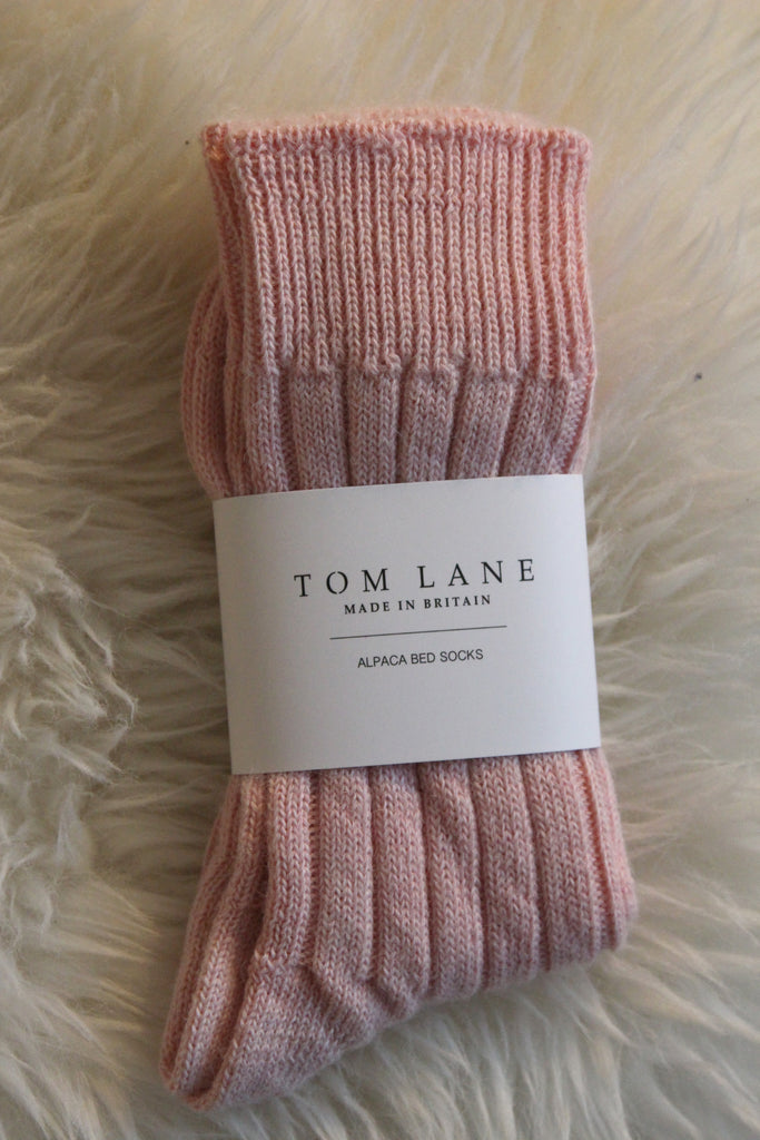 Pink Alpaca Bed/Lounge Socks
