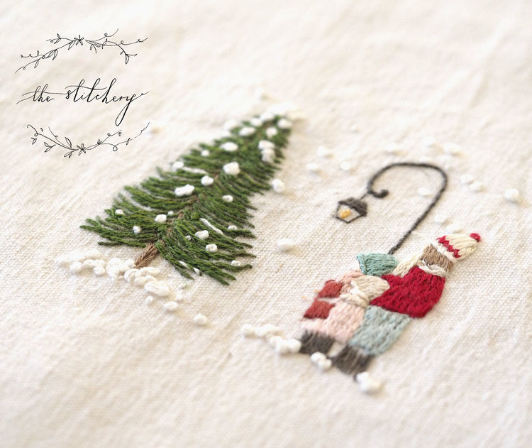 Stitchery Christmas: Carol Singers Embroidery Kit