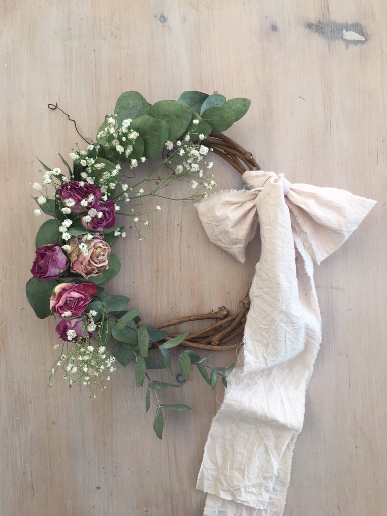The Cosy Shed Handmade Dried Flower Wreath